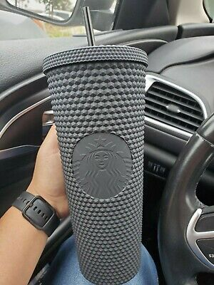 Fall 2019 Halloween Starbucks Matte Black Studded 24oz Tumbler Cup LE
