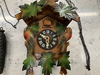"Vintage German Wooden Cuckcoo Clock Parts 9"" X 6.25"""