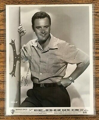 "JACK LEMMON  Autograph Inscribed Signed Photograph Warner Bros ""Mister Roberts"""