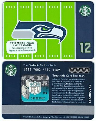 2016 Starbucks NFL Seattle Seahawks Gift Card 12th Man Limited Edition New