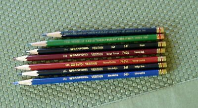 Vintage Verithin Colored Pencils For Drawing - Sanford Berol Eagle - Lot Of 7