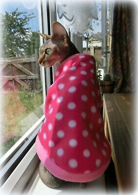 DOTS soft shirt for a cat jumper for a Sphynx  cat, cat clothes, Sphynx clothes