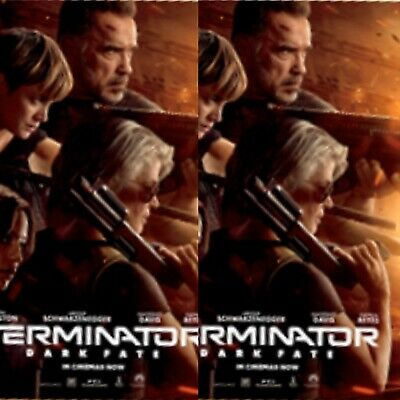 2 X Terminator Dark Fate Odeon Official Movie Film 2019 Poster