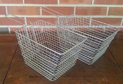2 Rectangle Deep Fryer Baskets - Commercial Quality