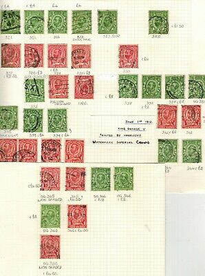 Gb Kgv 1911 - 1912 Downey Head Selection Of Used Stamps Unchecked For Sg Numbers