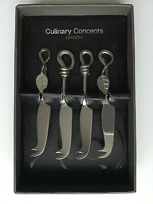 Culinary Concepts Mini Cheese Knife Set Of 4 Boxed Stainless Steel
