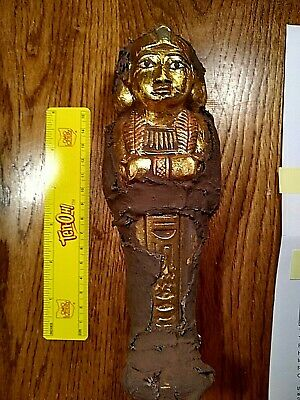original rare antique ancient egyptian ushabti servant of minions,water of gold!