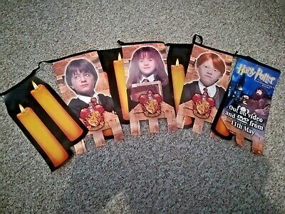 Harry Potter RARE SHOP ISSUE Banners Flags x8 The Philosopher's Stone. 2001.