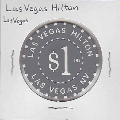 Vintage $1 chip from the Las Vegas Hilton Casino, Las Vegas