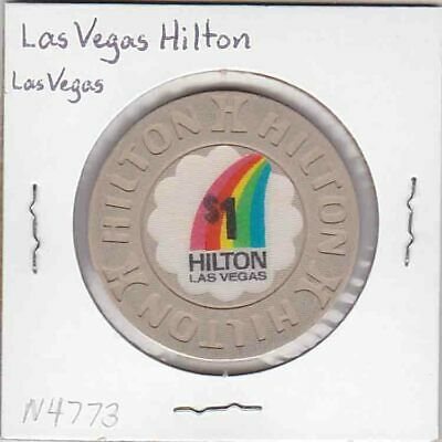Vintage $1 chip from the Las Vegas Hilton Casino (1992) Las Vegas