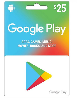🔥25 $ Google Play Store Card Gift Card 25 USD Credit  🔥 All Over The World