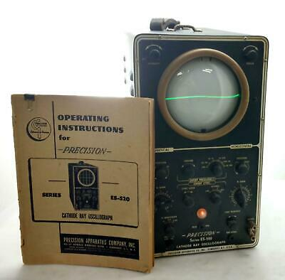 Vintage 1950's Precision Apparatus Co Series ES-520 Cathode Ray Oscillograph