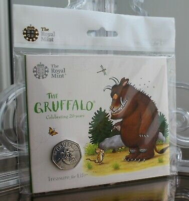 2019 Royal Mint The Gruffalo 50p Fifty Pence BU - BUnc Coin Pack - New - Sealed