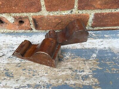 A Pair Of Vintage Old Antique Wooden Mahogany Corbels