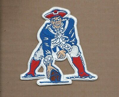 New 4 Inch New England Patriots Retro Iron On Patch Free Shipping P1