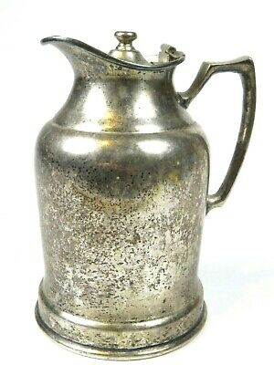 Wear Brite Nickel Silver Pitcher Tea Pot Coffee Insulated Grand Silver Co