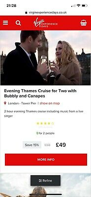 virgin experience voucher Cruise And Champagne