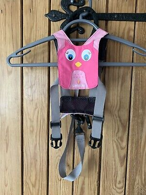 LittleLife Owl Toddler Reins - Good Used Condition Unboxed - Pink Owl Design