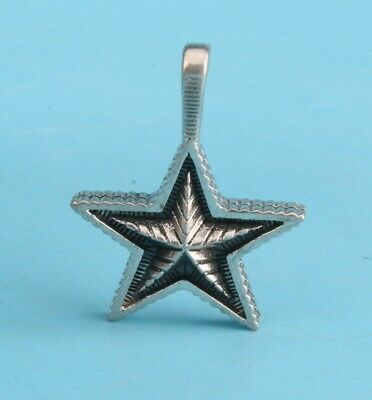 Rare China 925 Silver Pendant Statue Stars Handmade Mascot Collection Gift