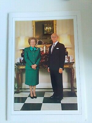 MARGARET THATCHER and Denis HANDSIGNED Christmas card autographed by both