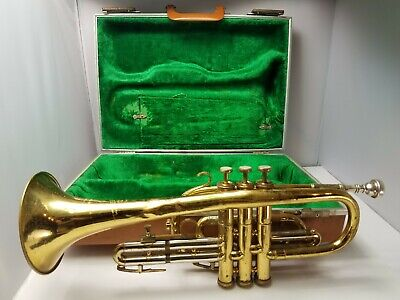 Besson 2-20 Cornet with Case and Bach 7c Mouthpiece (London/Paris/New York)