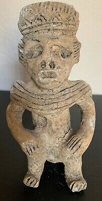 Antique Effigy Figure Mayan Warrior