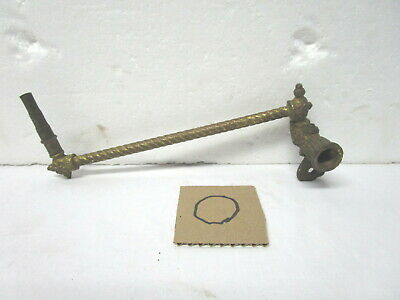 Antique vintage decorative brass gas lighting adjustable wall mounting bracket