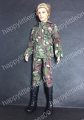 Ken Doll Army Man Military Outfit Clothes Dress &Soldier Boots Barbie Friend New