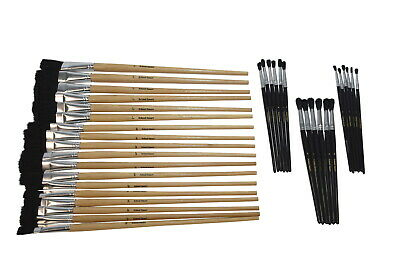 School Smart Intermediate Paint Brush Assortment, Set of 36