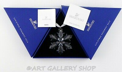 Swarovski Crystal Annual Christmas Ornament 2014 STAR SNOWFLAKE Mint Box COA