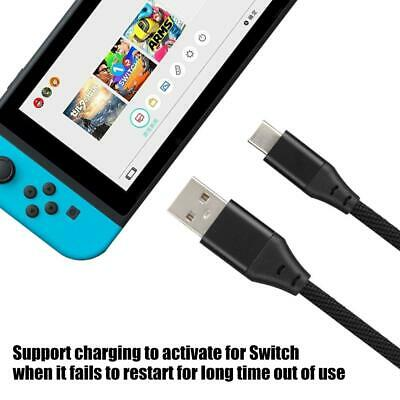 Braided Type-C USB Charger Charging Power Cable for Nintendo Switch 3A