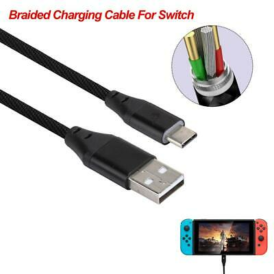 USB Cable Type-C Charger Charging Cord Cable For Nintendo Switch Console 3A