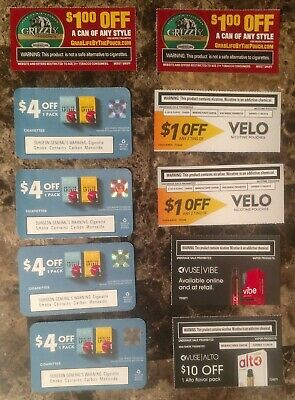 $30 in American Spirit, Grizzly, Velo & Vuse Cigarette & Snuff Coupons