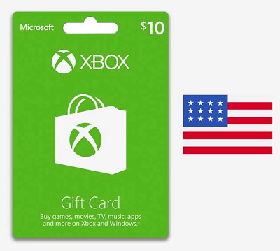 $10 USD Xbox Live Gift Card 360/One - USA