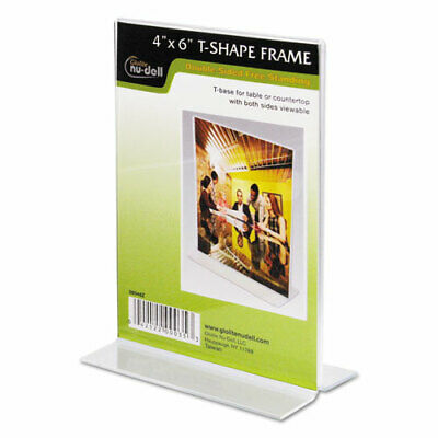 """Nu-Dell Double-sided Sign Holder - 1 Each - 4"""" Width x 6"""" Height - Rectangular"""