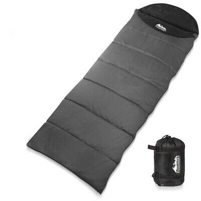 WEISSHORN Camping Sleeping Bag -10°C Hiking Thermal Carry Bag Tent Micro Black