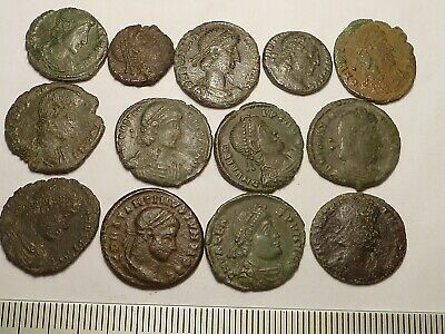 5199Lot of 13 ancient Roman copper coins 4th century AD