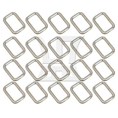 20x Multifunction 2.5cm Silver Rectangle Retainer Bag Purse Buckle Strap Kit