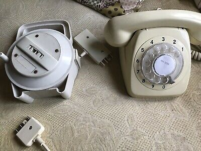 Vintage Dial Phone And Extension Cord.