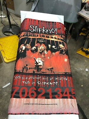 Slipknot Vintage Tapestry - 1999 - Rare - Vgc - Free Shipping - Peoria, Il Show