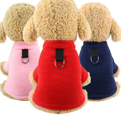Winter Pet Dog Clothes Soft Fleece Dog Coat Jacket for Small Dogs Yorkie Hoodies