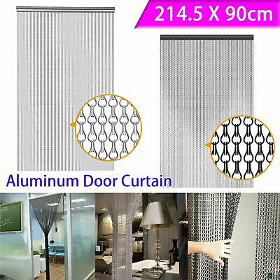 Metal Chain FLY Pest INSECT DOOR SCREEN CURTAIN Control Silver Black Home