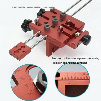 Woodworking Puncher Adjustable Drill Guides Punching Locator Dowelling Jig Set