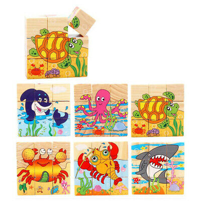 Three-dimensional Wooden Puzzle Educational Toys Early Baby Development M5BD 01