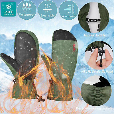 Waterproof Winter Warm Ski Gloves Snowboard Snowmobile Thermal Mittens Gloves