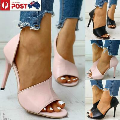 Women Party Dress Shoes Peep Toe High Heel Pumps Cut Out Stiletto Sandals Size