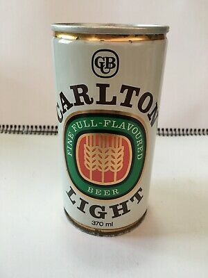 Collectable Steel Beer Can - Carlton Light, 370ml, with Wheat Picture