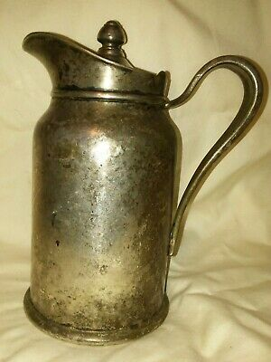 VTG 1940's INSULATED PITCHER Reed & Barton Silver Soldered Silver Plate Creamer