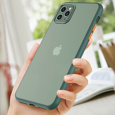 Shockproof Matte Transparent For iPhone 11 11 Pro Max Silicone Clear Hard Cover