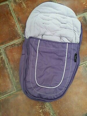 ICANDY peach / peach jogger   main seat  footmuff cosytoes loganberry purple